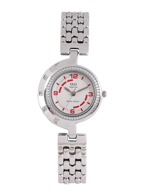 Q&Q Women White Analogue Watch S271-204NY
