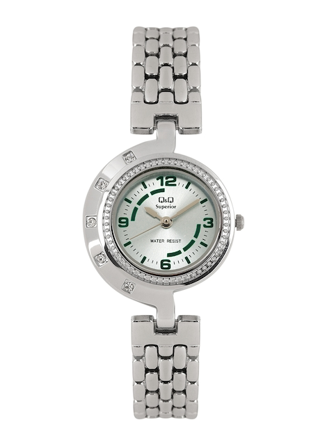 Q&Q Women Steel-Toned Analogue Watch S271-225NY