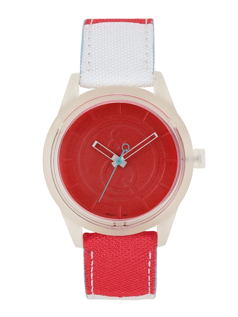 Q&Q Women Red Analogue Watch RP00J011Y