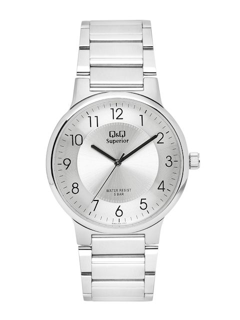 Q&Q Men Silver-Toned Analogue Watch S282J204Y