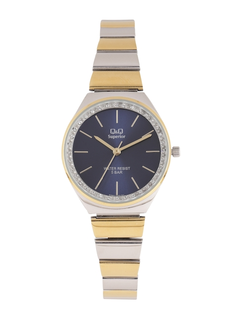 Q&Q Women Navy Blue Analogue Watch S293J402Y