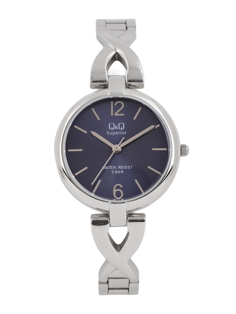 Q&Q Women Navy Blue Analogue Watch S297J202Y