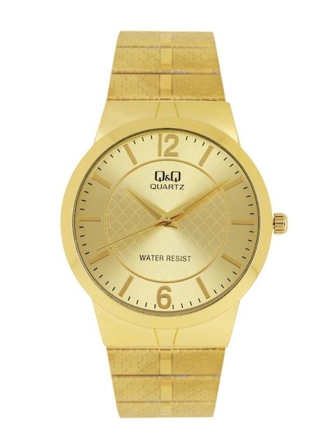 Q&Q Women Gold-Toned Analogue Watch QA82-020Y
