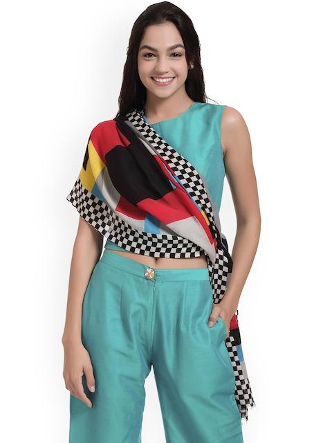 SHINGORA Women Multicoloured Printed Woollen Stole