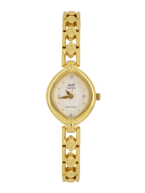 Q&Q Women White Analogue Watch S253-001NY