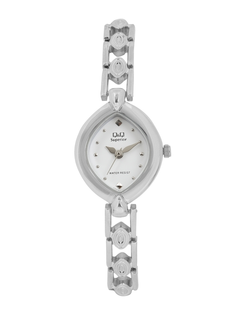 Q&Q Women White Analogue Watch S253-201NY