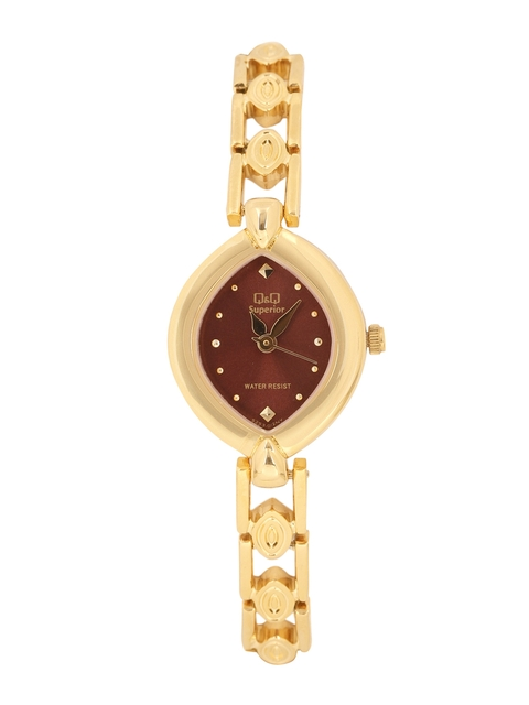 Q&Q Women Maroon Analogue Watch S253-012NY