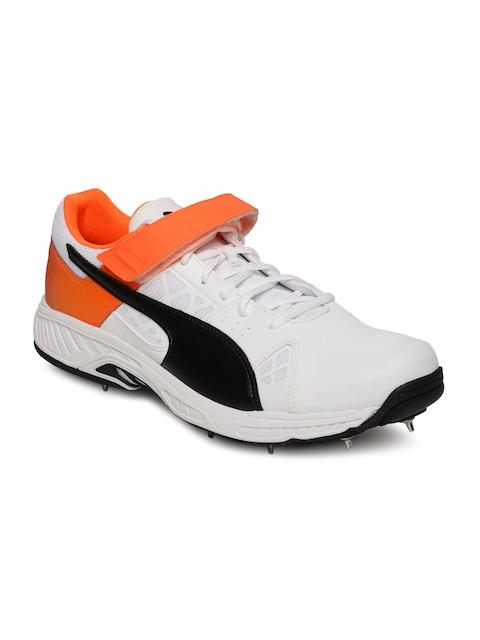 Puma Men White evoSPEED 18.1 cricket Bowl Sports Shoes