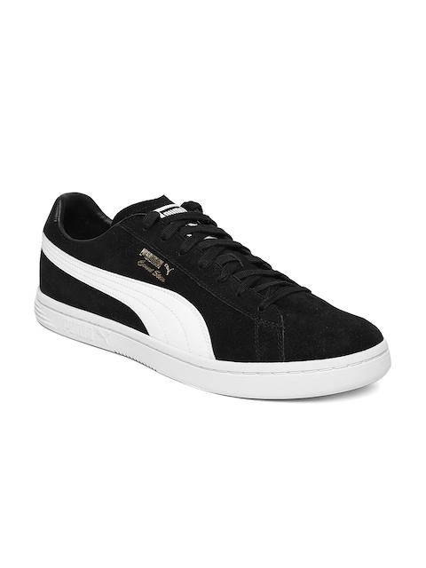 Puma Men Black Court Star FS Suede Sneakers
