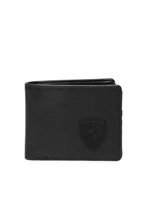 Puma Men Black Solid Two Fold Wallet