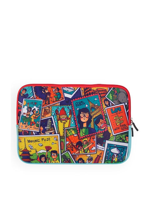 Chumbak Unisex Multicoloured Printed Laptop Sleeve