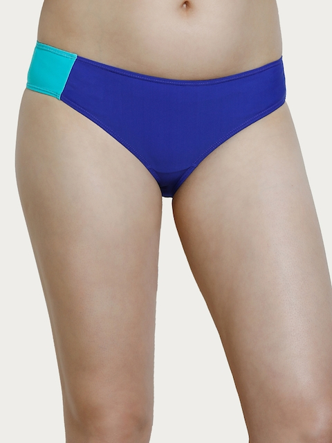 Zivame Blue Mid-Rise Bikini Briefs ZI0806S10KZBLUE