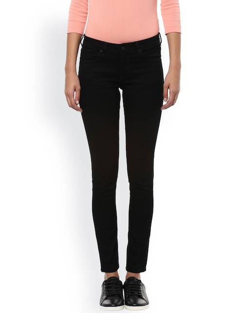 Allen Solly Woman Black Regular Fit Mid-Rise Clean Look Jeans