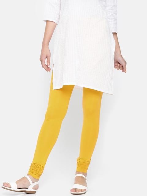 Melange by Lifestyle Women Mustard Yellow Leggings