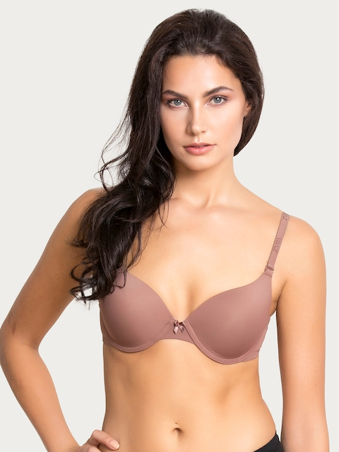 877a94cc28 50%off Zivame Beige Solid Underwired Lightly Padded Push-Up Bra  ZI1132COREBROWN