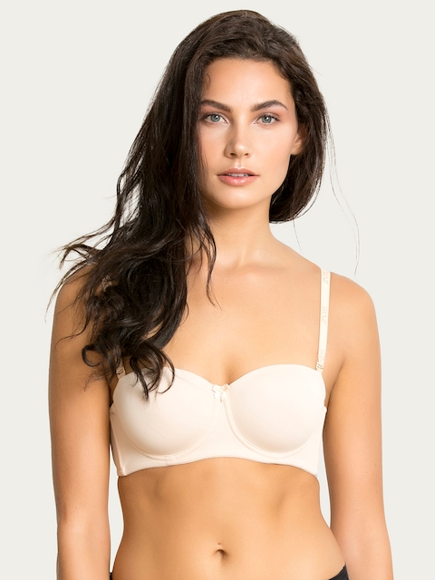 Zivame Beige Solid Underwired Lightly Padded T-shirt Bra ZI1133COREANUDE