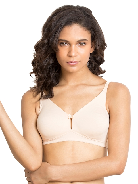 Zivame Beige Solid Non-Wired Non Padded Everyday Bra ZI1130COREANUDE