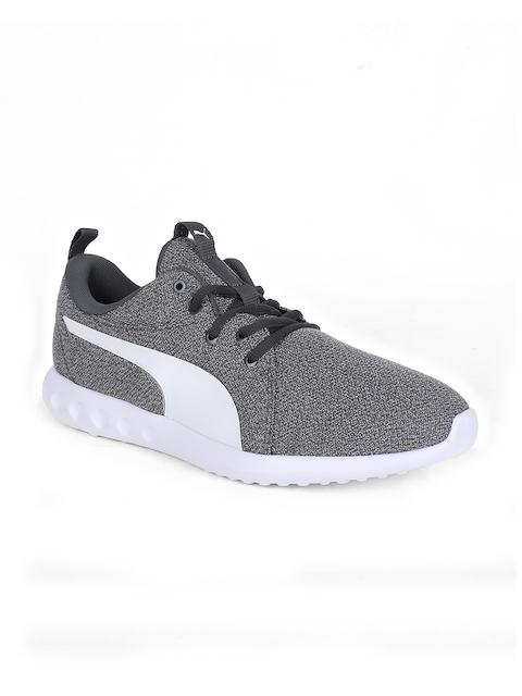 Puma Men Grey Carson 2 Knit NM Walking Shoes