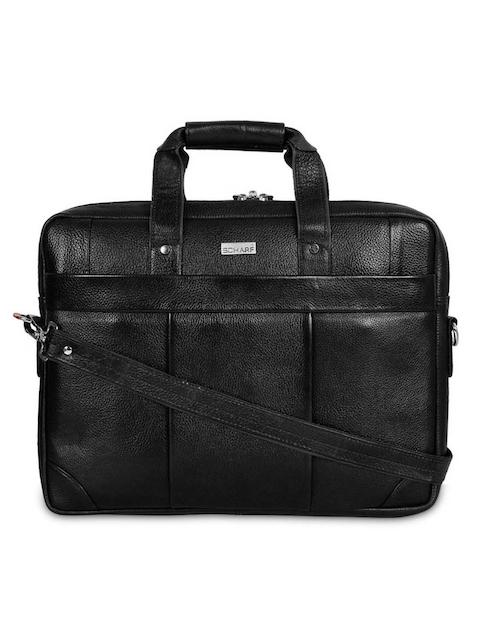 SCHARF Unisex Black Solid Laptop Bag