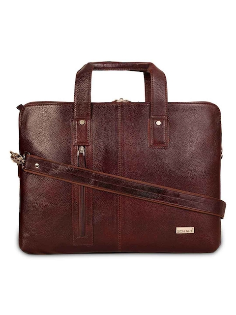 SCHARF Unisex Brown Solid Laptop Bag