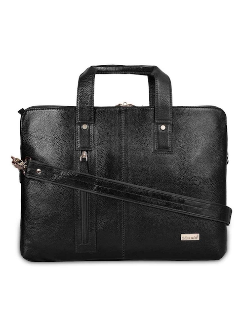 SCHARF Unisex Black Solid Laptop Bag