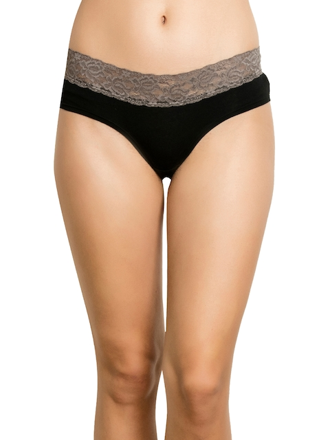 Zivame Women Assorted Lace Basic Briefs ZI2212FASHBROWN