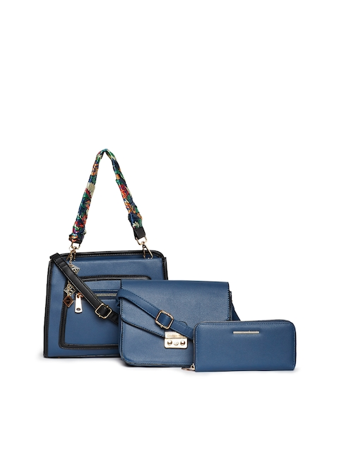 Diana Korr Blue Solid Set of 3 Bags