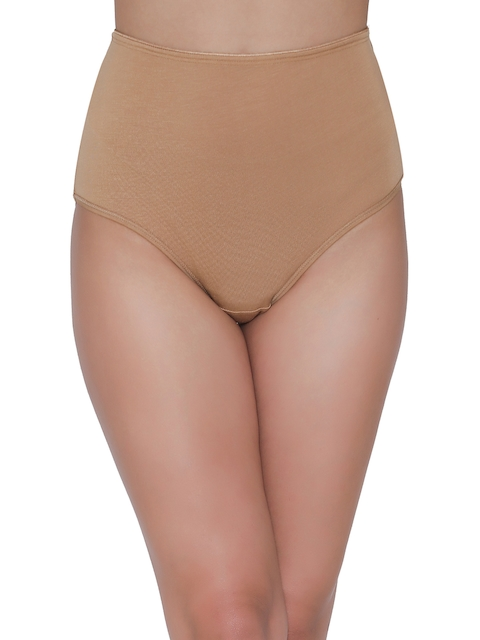 Clovia Nude-Coloured High-Waist Hipster Panty PN2580P24X