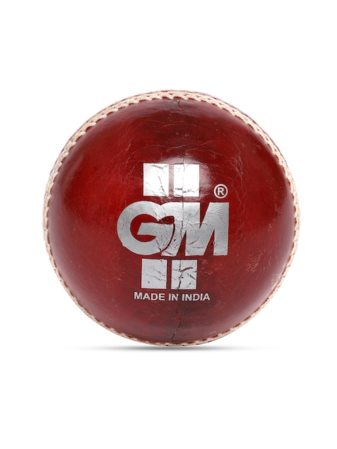 GM Unisex Red Crown Match Leather Cricket Ball