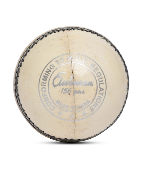 GM Unisex White Clubman Leather Cricket Ball