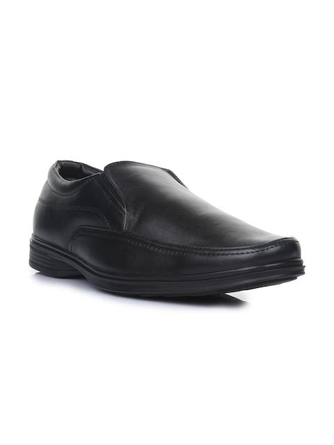 Liberty Men Black Solid Slip Ons