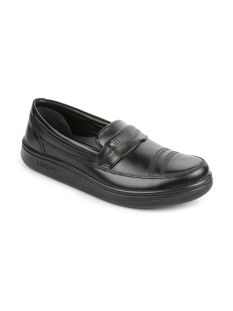 Warriors By Liberty Men Black Formal Slip-on Shoes