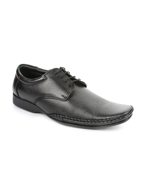 Fortune By Liberty Men Black Genuine Leather Formal Shoes