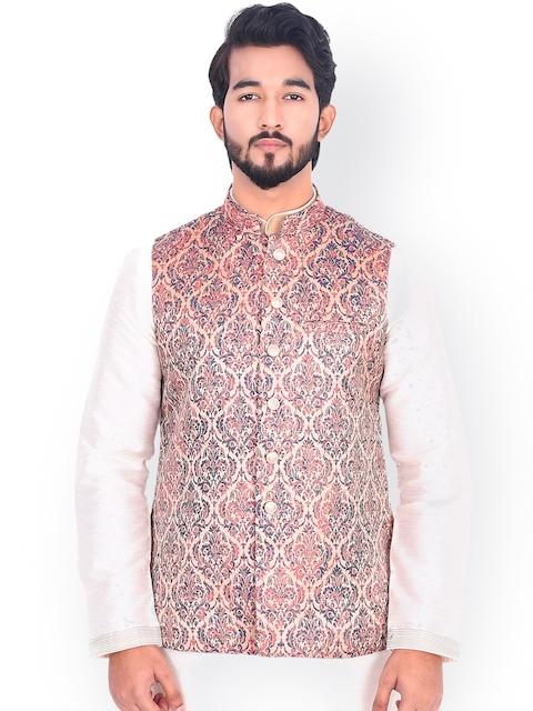 Manyavar Men Multicoloured Printed Nehru Jacket