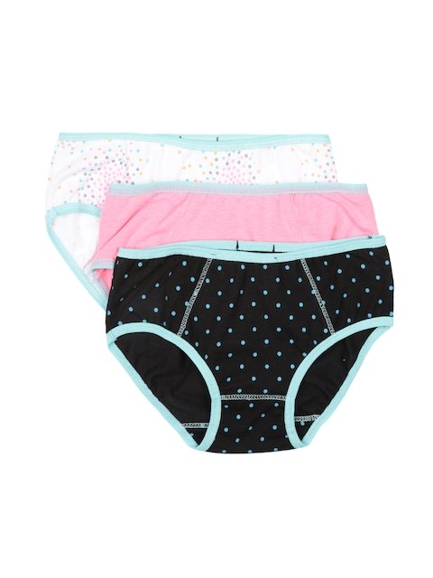 Claesens Holland Girls Pack of 3 Printed Assorted Briefs CL630