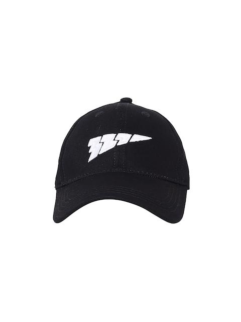 321 Sportswear Unisex Black Solid Speed Baseball Cap