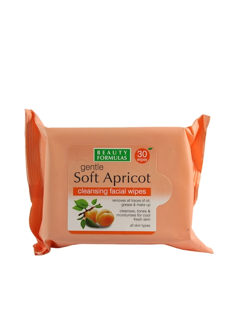 Beauty Formulas Apricot Extract Facial Pack of 30 Wipes