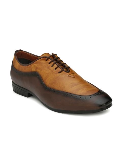 Mactree Men Brown Formal Oxford Shoes
