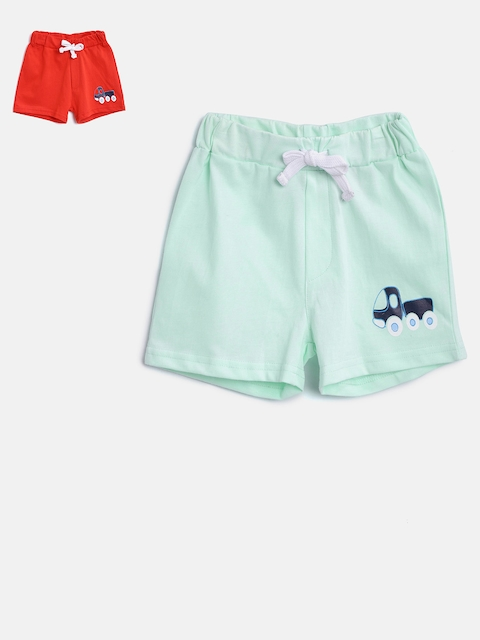 TAMBOURINE Boys Pack of 2 Assorted Solid Regular Fit Shorts