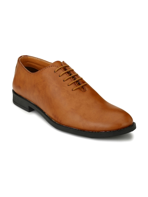 Fentacia Men Tan Brown Solid Formal Oxford Shoes