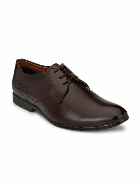 Fentacia Men Brown Solid Formal Derbys