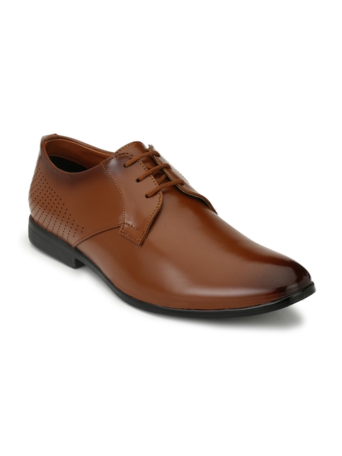 Fentacia Men Tan Brown Solid Formal Derbys