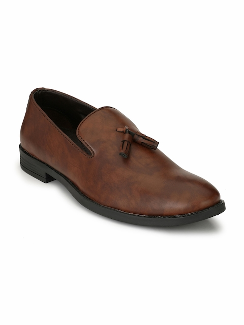 Fentacia Men Brown Tasselled Formal Slip-On Shoes