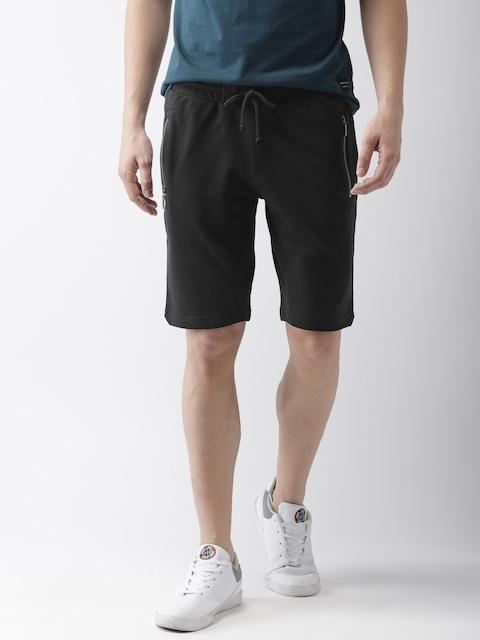 Levis Men Black Solid Regular Fit Shorts
