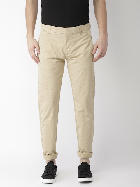 Levis Men Beige Regular Fit Printed Trousers