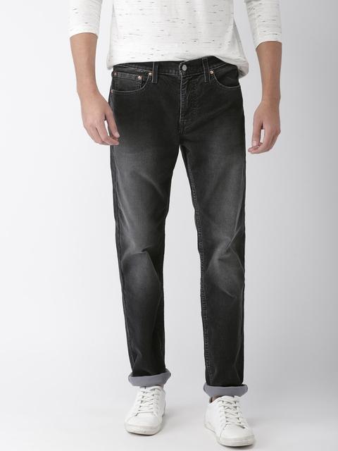 Levis Men Black 511 Slim Fit Mid-Rise Clean Look Corduroy Jeans
