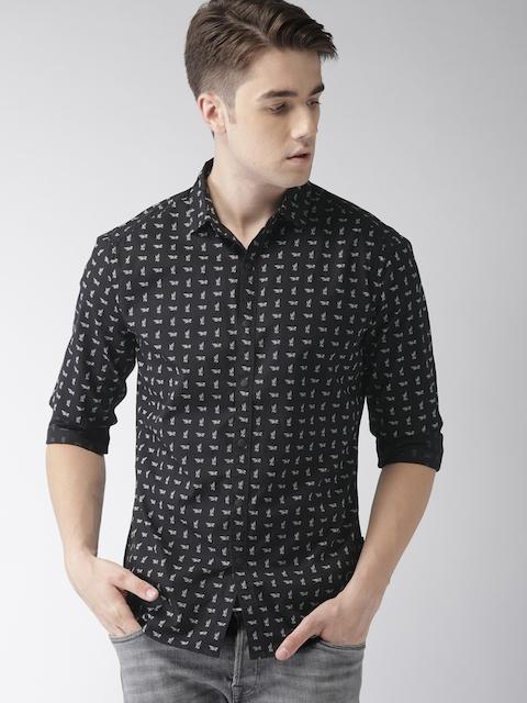 Levis Men Black & White Regular Fit Printed Casual Shirt