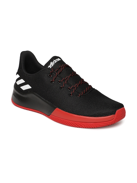 Adidas Men Black & Red SPEEDBREAK Basketball Shoes