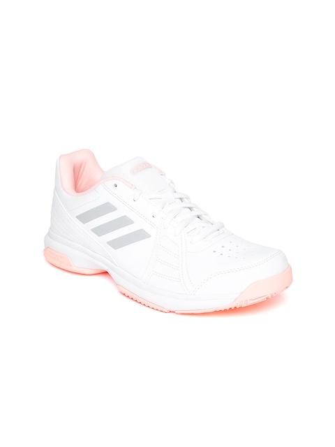Adidas Women White Aspire Tennis Shoes