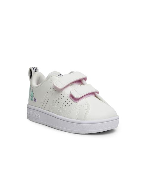 cf3b05fdb7a75 Adidas Boys Off-White VS ADV CL CMF INF Tennis Shoes